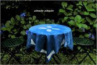 藍染テーブルクロス、暖簾、バッグ(依頼分) - 今が一番