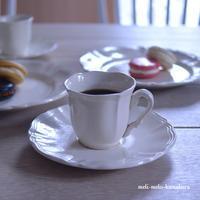 ◆フランスアンティーク*花リムコーヒーC&S - フランス雑貨とデコパージュ&ギフトラッピング教室 『meli-melo鎌倉』