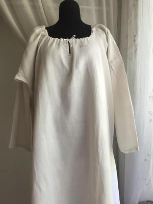 19世紀男女兼用手織り麻のナイティ813,814 - スペイン・バルセロナ・アンティーク gyu's shop