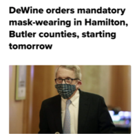 シンシナティ市、そして郊外でもマスク必須に - しんしな亭 in シンシナティ ブログ