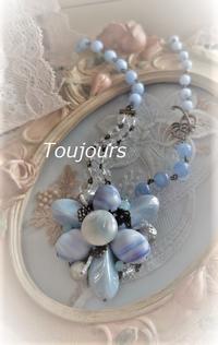 サマーブルーのネックレス - Bijoux  du  Bonheur ~ビジュー ドゥ ボヌール~