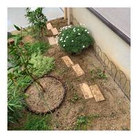 植栽スペース@敷石代わりの煉瓦の向きを変える - 編み好き@amiami通信