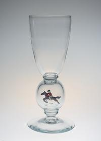 Stevens & Williams Horse Figure in Blue Ball Stem Glass - GALLERY GRACE ギャラリーグレース BLOG