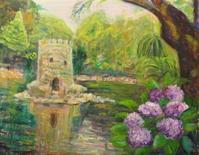 シントラ城のお庭 - 絵を描きながら