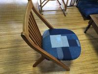 デニムつなぎの椅子カバー - ないものを あるもので