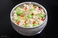 【ぎふベジ】山椒香る冷凍豆腐と枝豆の白麻婆風丼。 - スパイスと薬膳と。