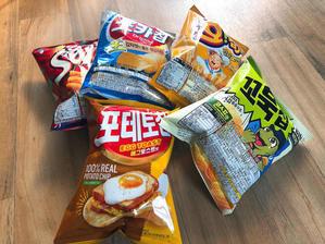 エッグトースト味のポテチと人気韓国チップス4点! - ふじこりあ~韓国在住・日韓夫婦ふじこのブログ~