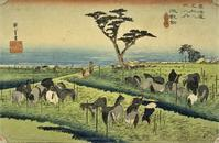 池鯉鮒・鳴海(広重『東海道五十三次』20) - 気ままに江戸♪  散歩・味・読書の記録