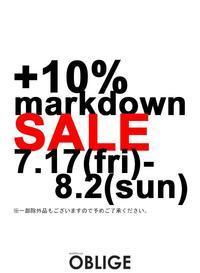 『 MARKDOWN SALE ‼️』スタート - 山梨県・甲府市 ファッションセレクトショップ OBLIGE womens【オブリージュ】