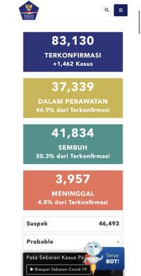 7月17日(金)の集計インドネシア政府発表より - 手相占い 本・水槽・その他