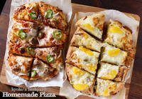 手作りピザ2種類とスタッフド・マッシュルーム - Kyoko's Backyard ~アメリカで田舎暮らし~