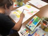 一宮教室、児童コース、ポスター制作中です。 - 大﨑造形絵画教室のブログ