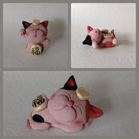 招き猫の由来と土人形 - うさぎ山工房 「うさぎ山の四季 」