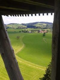 スイスの小さな街Wilのタワー - コルマール街暮らし