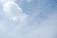 青空、そして暑い(積雲、高積雲) - いま、そこにある雲