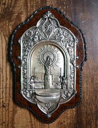 幼子イエスを抱くピラールの聖母 聖水盆 ベネティエ  / H175 - Glicinia 古道具店
