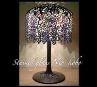 Tiffany lamp shade 18-inch Wisteria - ステンドグラス ネオ工房のフォト日記
