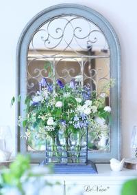 7月Living flowerクラス『初夏の花のグラスアレンジ』 - Le vase*  diary 横浜元町の花教室