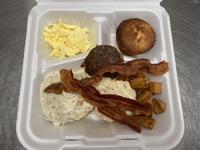 アメリカの一般的な宿泊施設の朝食とそこの厨房で働く日本人女性の賄い朝ごはん - じゃポルスカ楽描帳
