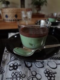 抹茶ミルクゼリー - シマトリネコの庭日記