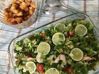 アメリカン家族の夕食へ*涼しげ夏サラダ - E*N*JOY