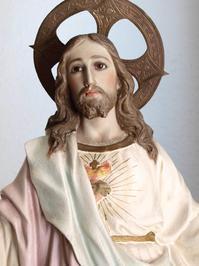 聖心のイエスキリスト像 46cm /H182 - Glicinia 古道具店