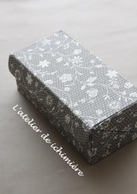 蓋が直角な箱 - ichimiereカルトナージュと手づくりの時間