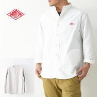DANTON [ダントン] M's L/S OXFORD NO COLLAR SHIRTS [JD-3607YOX] 長袖バンドカラーシャツ・長袖シャツ・ノーカラー・MEN'S - refalt blog