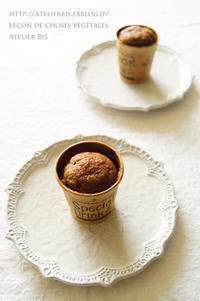 キャロブとベリーのマフィン。 - *Romantic caramel-香草菓子や粉と卵とおうちおやつ*