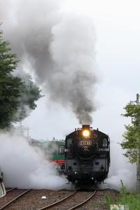 白煙とドレーン- 2020年梅雨・真岡鉄道 - - ねこの撮った汽車