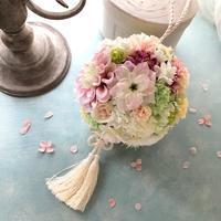 和装のボールブーケ - 花雑貨店 Breath Garden *kiko's  diary*