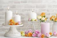 Candles & Roses - Be strong and happy!
