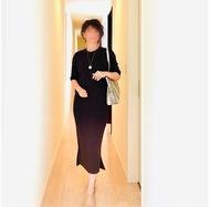 【懇談コーデ】即、着痩せワンピ/ 混んでいてもさっと履ける!超軽い大人のうわばき - 無理しない☆シンプル母コーデⅡ