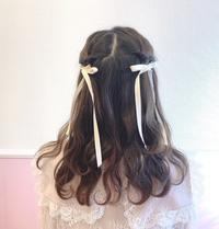 💟簡単♡ガーリーハーフツイン❤️ - ♡ seika's blog ♡
