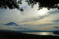 山中湖 パノラマ台2020-08-18 - 夕陽に魅せられて・・・