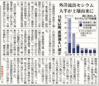 外洋放出セシウム大半が土壌由来に15年以降、直接漏えい減少/  東京新聞 - 瀬戸の風