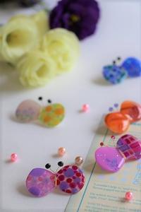 蝶々ブローチ販売いたします - 大阪府池田市 幼児造形教室「はるいろクレヨンのブログ」