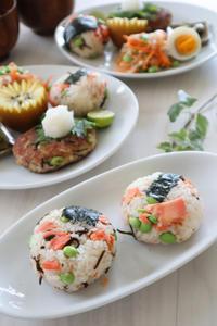(主食レシピ)枝豆と鮭のおこわ - おうちカフェ*hoppe