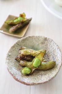 (おかずレシピ)枝豆のバター醤油焼き - おうちカフェ*hoppe