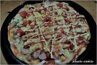 主人の『ホットプレートピザ』 - 今が一番