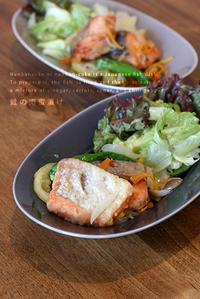 鮭の南蛮漬けと根菜炊き込み - KICHI,KITCHEN 2