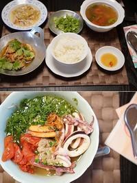 XIN CHAO ベトナム料理レッスン~ピリ辛・うち飲みご飯の会&北部風・海鮮とディルの汁麺の会 - 晴れた朝には 改