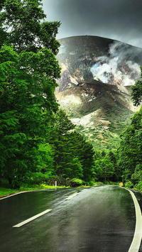 一切経山雨の中の噴煙 - 風の香に誘われて 風景のふぉと缶