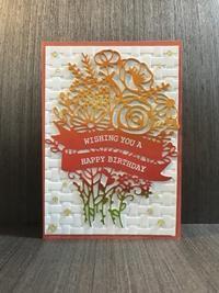 華やかな花束のお誕生日カード - 胡桃っ子の家