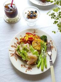 BKベーカリーのパンと季節野菜のワンプレート & やっと届いたアルバム~♪ - キッチンで猫と・・・