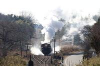 煙もレールも逆光に光った冬晴れの日- 2020年・真岡鉄道 - - ねこの撮った汽車