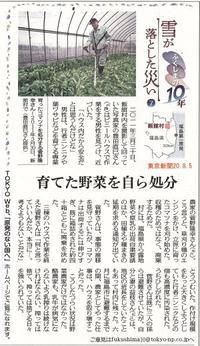 雪が落とした災い⑦/  ふくしまの10年 東京新聞 - 瀬戸の風