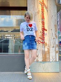 20FW新作「DSQUARED2 ディースクエアード」Tシャツ・デニムミニスカート入荷です。 - UNIQUE SECOND BLOG