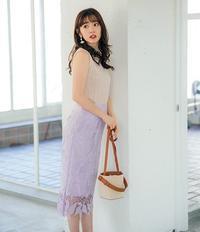 女性らしい「ラベンダーレーススカート」を使った清楚コーデ♡ - *Ray(レイ) 系ほなみのブログ*