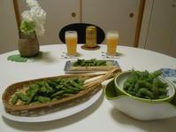 枝豆地獄・・・? - のび丸亭の「奥様ごはんですよ」日本ワインと日々の料理